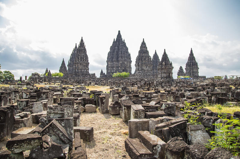 Висок Prambanan стоковые фотографии rf