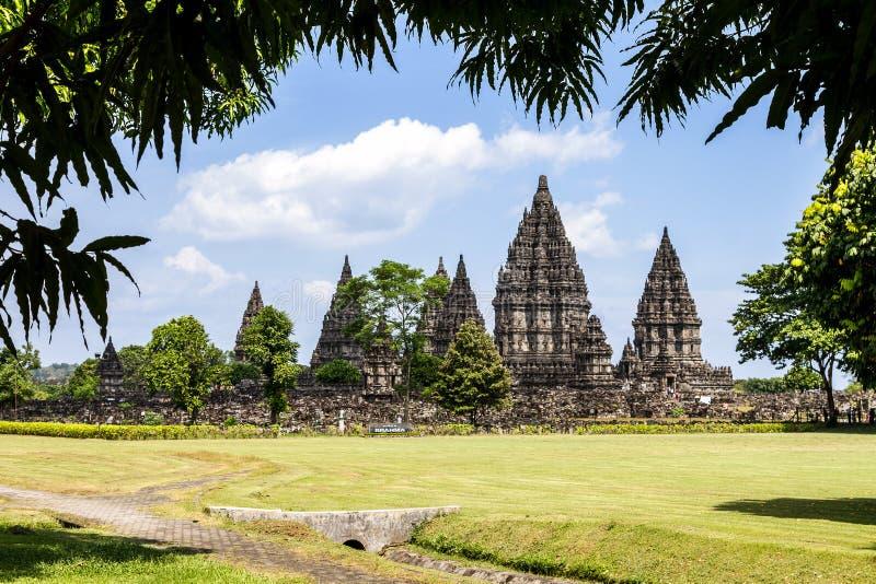 Висок Prambanan, Yogyakarta, Java, Индонесия стоковая фотография rf