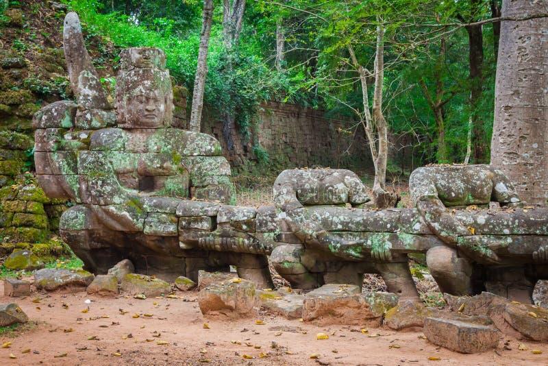 Висок Preah Khan, зона Angkor, Siem Reap, Камбоджа стоковое фото rf