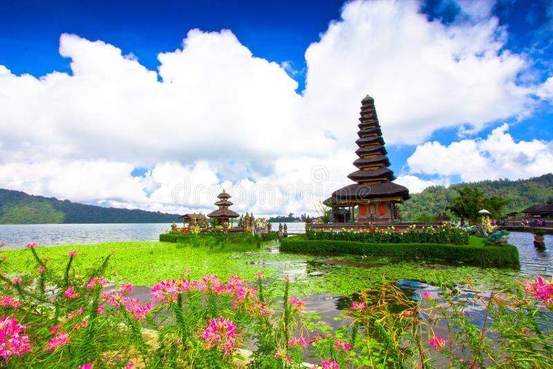 Висок Pura Ulun Danu на озере Beratan Бали, Индонезия стоковое изображение rf