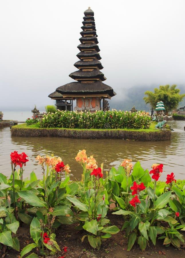Висок Pura Ulun Danu Bratan Остров Бали стоковое изображение