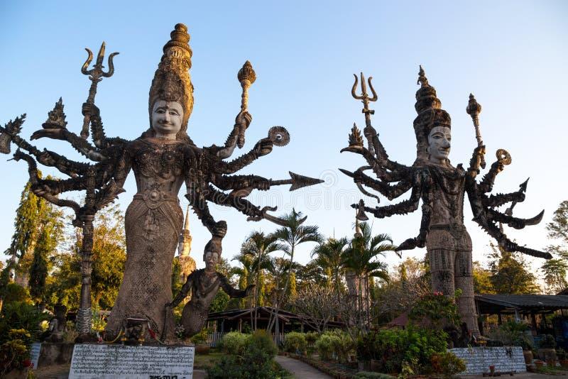 Висок Sala Keo Kou, Nong Khai, Таиланд, Азия стоковые фотографии rf