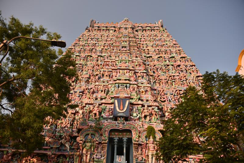 Висок Sarangapani, Kumbakonam, Tamil Nadu стоковое фото