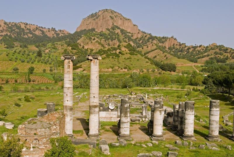 висок sardes artemis стоковое изображение rf