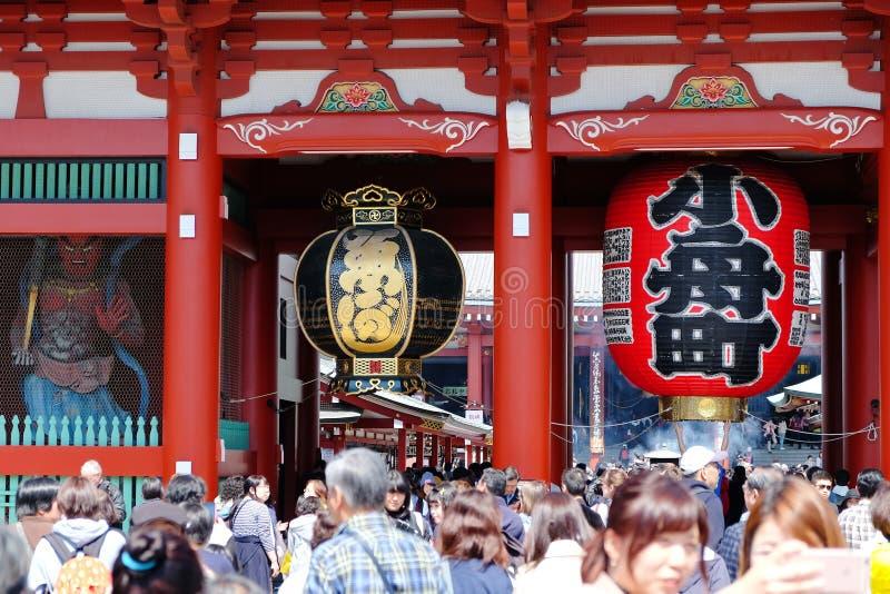 Висок Senso-ji в Asakusa стоковое изображение