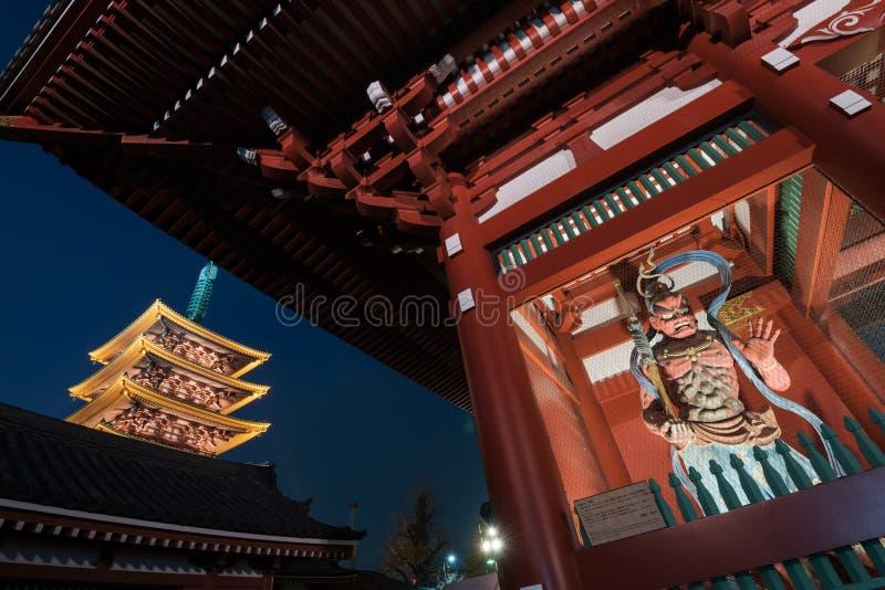Висок Sensoji в токио Asakusa - Японии стоковые фотографии rf
