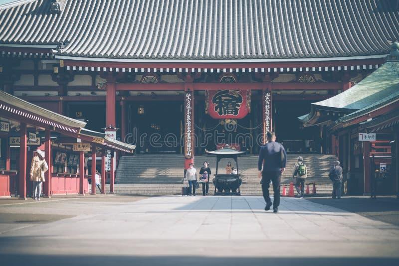 Висок Sensoji или Asakusa Kannon буддийский висок расположенный в Asakusa, ориентире и популярном для достопримечательностей 7-ое стоковая фотография rf