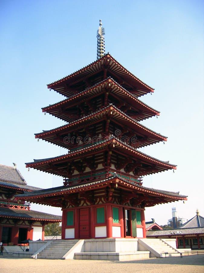 Download висок Shintennoji Pagoda S японии Osaka Стоковое Изображение - изображение насчитывающей древесина, висок: 491817
