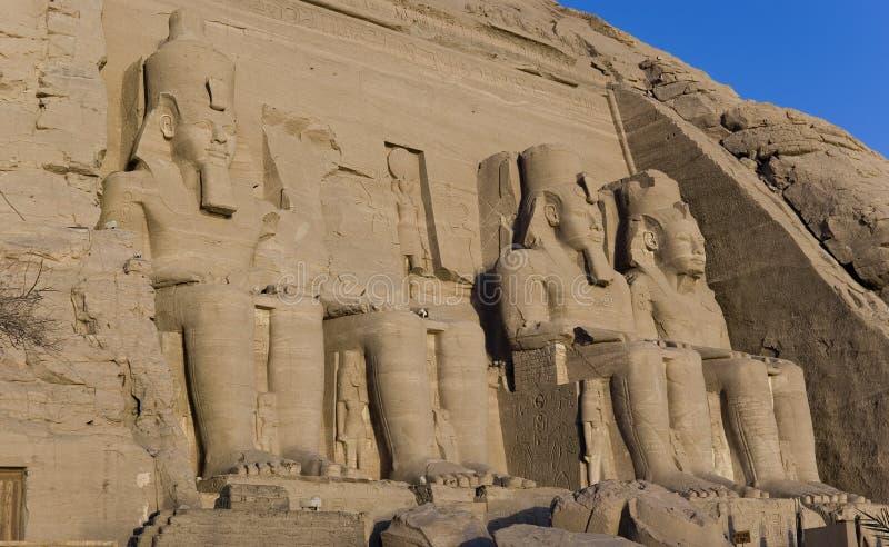 висок simbel ramesses Египета ii abu стоковое фото