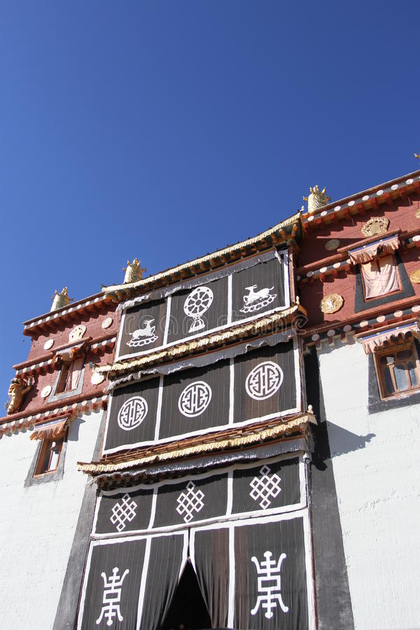 Висок Songzanlin в Shangrila стоковая фотография