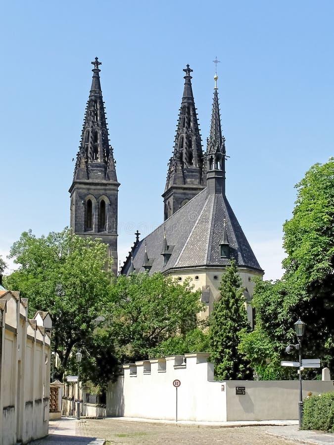Download Висок St Peter и Пол в Праге Vysehrad Стоковое Фото - изображение насчитывающей католическо, духовно: 41661316