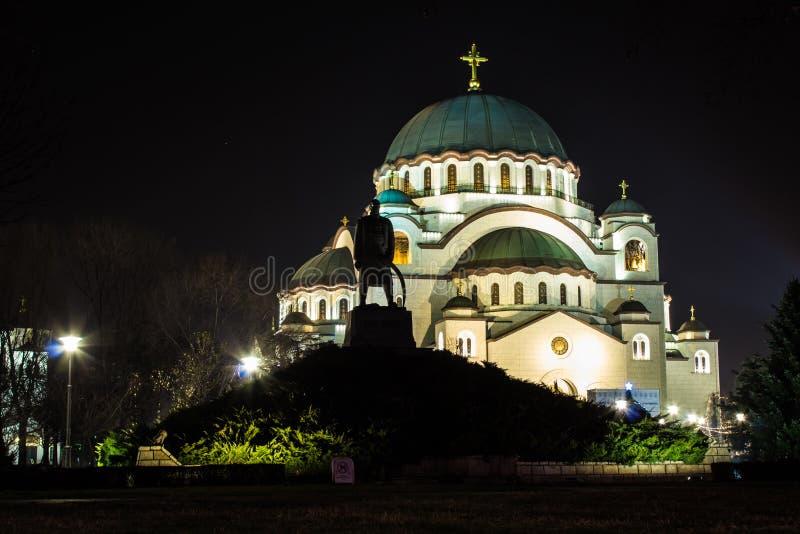 Висок St Sava, Белграда, Сербии стоковые фотографии rf