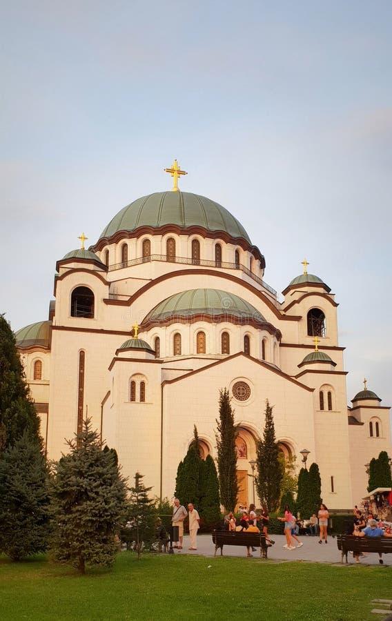 Висок St Sava, Belgrad стоковая фотография rf