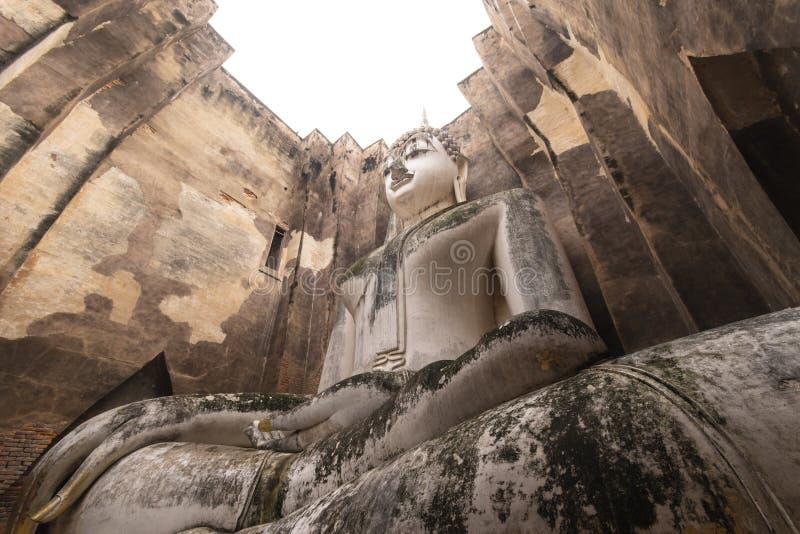 Висок Sukhothai приятеля Wat Si стоковые изображения
