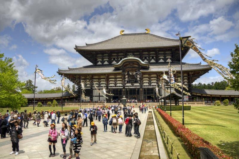 Висок Todai-ji в Nara, Японии стоковая фотография