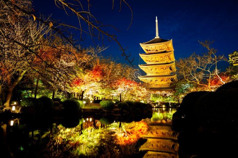 Висок Toji стоковая фотография