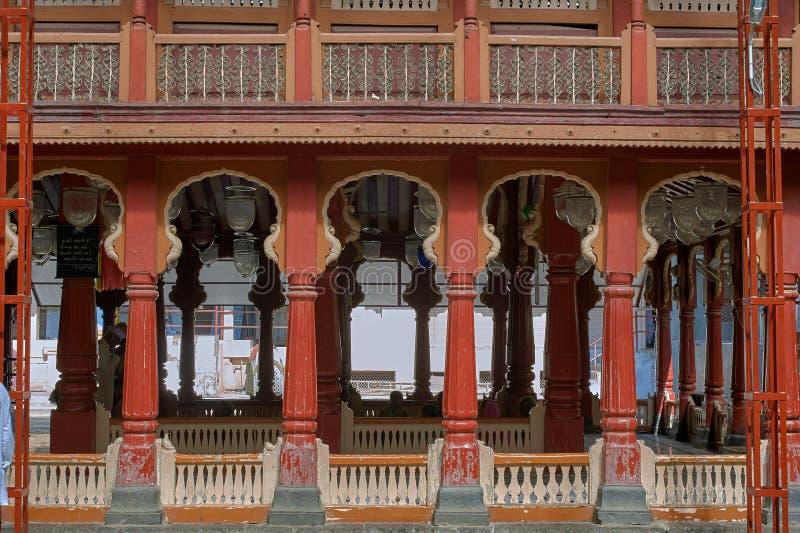 Висок vishnu tipe Eshva деревянным известный виском bhagwant, Barshi, Solapur стоковые изображения rf