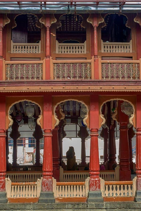 Висок vishnu tipe Eshva деревянным известный виском bhagwant, Barshi, Solapur стоковая фотография
