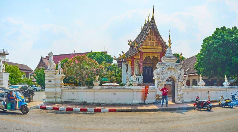 Висок Wat Chang Taem, Чиангмай, Таиланд стоковое фото rf