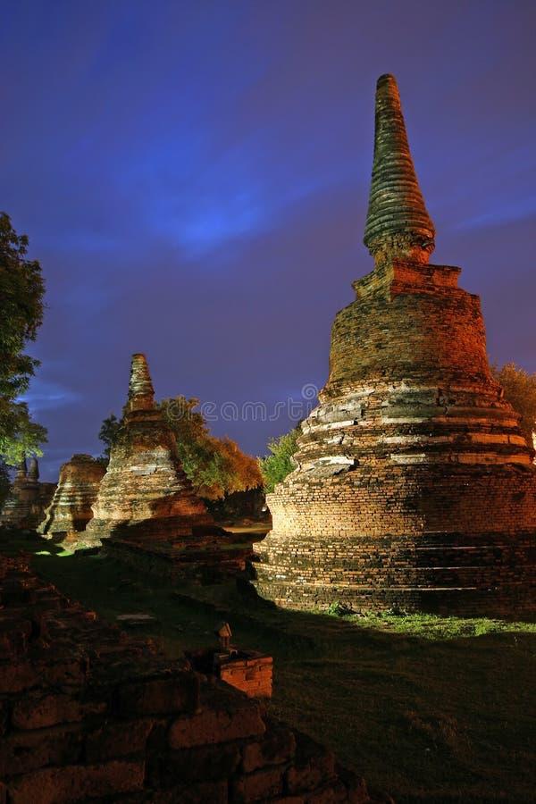 Висок Wat Phra Si Sanphet на столица Ayutthaya, вторая Таиланде стоковые изображения rf