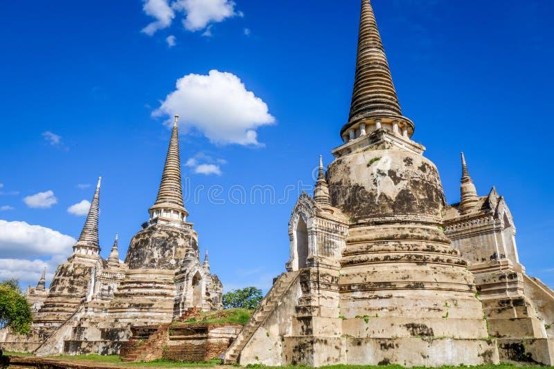Висок Wat Phra Si Sanphet, Ayutthaya, Таиланд стоковое изображение