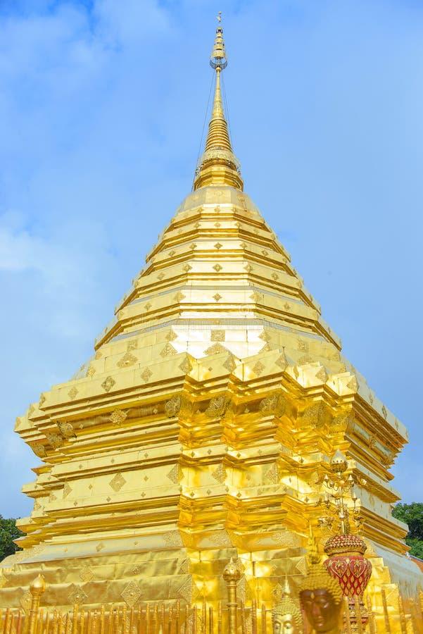 Висок Wat Phrathat Doi Suthep или Phrathat Doi Suthep, famou стоковые изображения rf