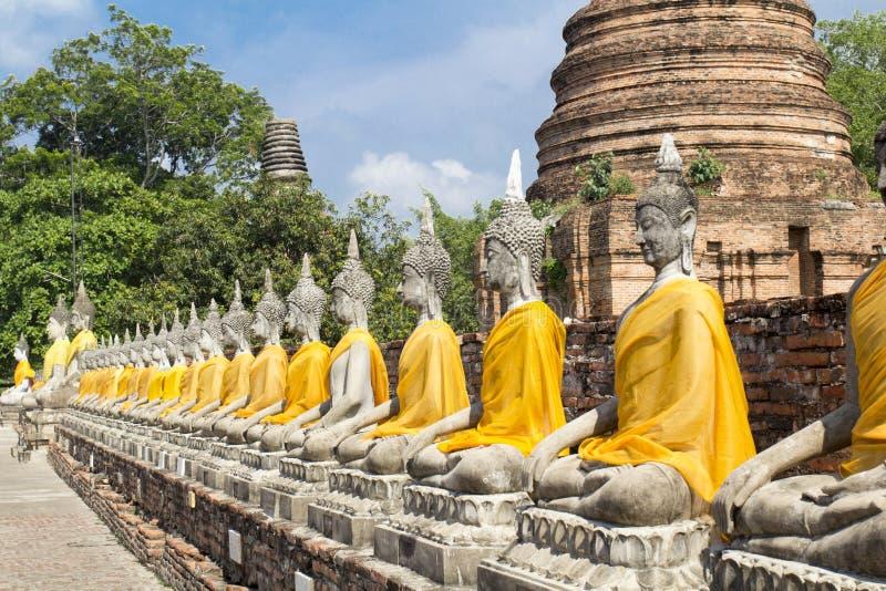 Висок Wat Yai Chaimongkol в Таиланде стоковые изображения