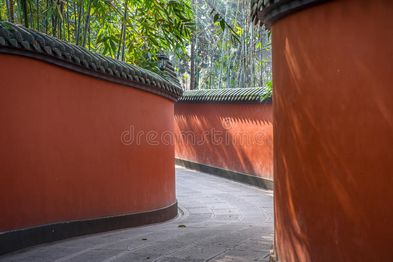 Висок Wuhou мемориальный, военный маркиз, провинция Чэнду, Сычуань, Китай стоковые фото