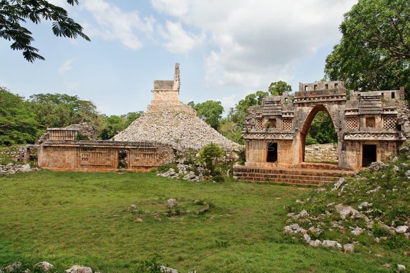 висок yucatan Мексики labna майяский стоковые фотографии rf