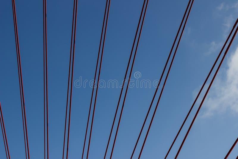 Висячий мост веревочки стоковая фотография