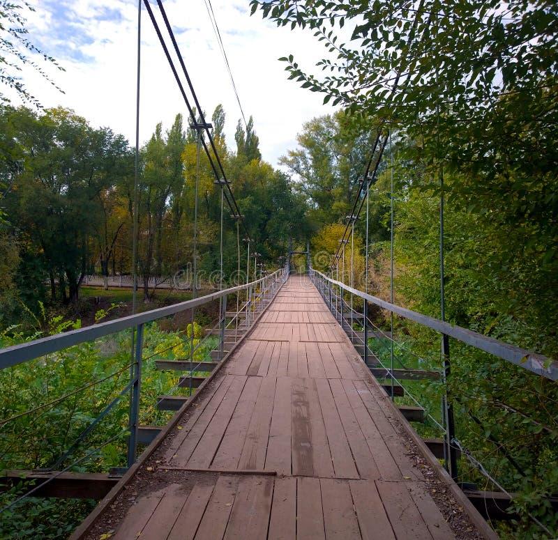 Висячий мост в Krivoy Rog стоковые изображения rf