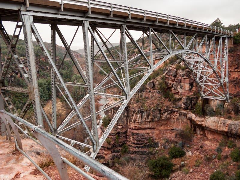 Download Висячий мост над красными утесами Стоковое Изображение - изображение насчитывающей утесы, утюг: 81808917