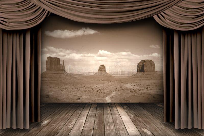 Вися занавесы театра этапа бесплатная иллюстрация
