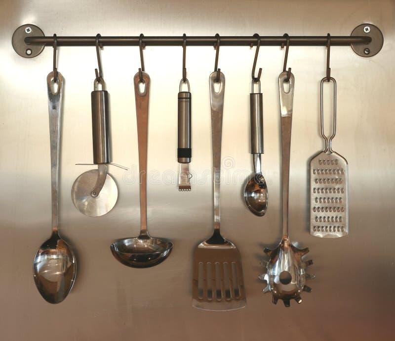 вися стена утварей кухни стоковые фотографии rf