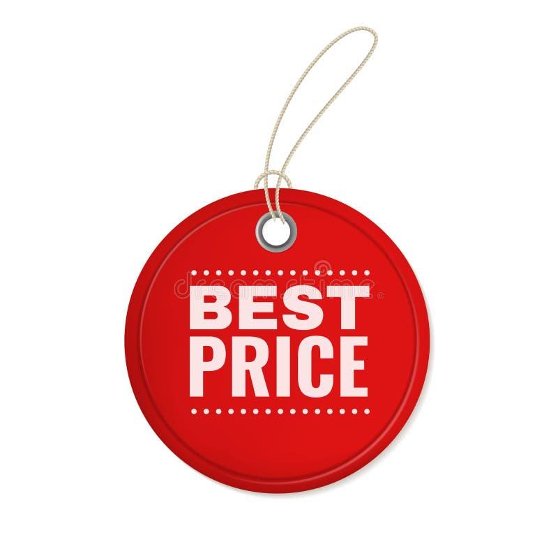 Вися ярлык предложения бумаги Вид бирки вырезывания цены 3d красного круга винтажный для шаблона вектора продаж специальной скидк иллюстрация вектора