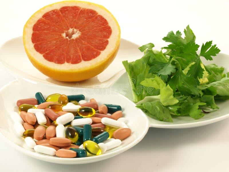 витамины части стоковые изображения