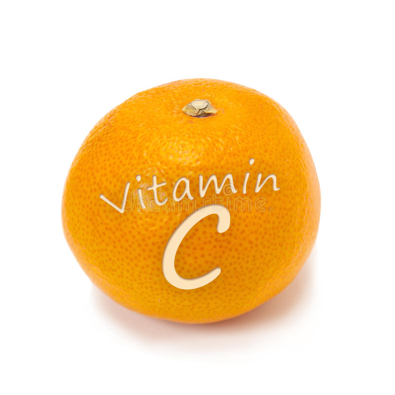 витамин померанца c стоковые фото