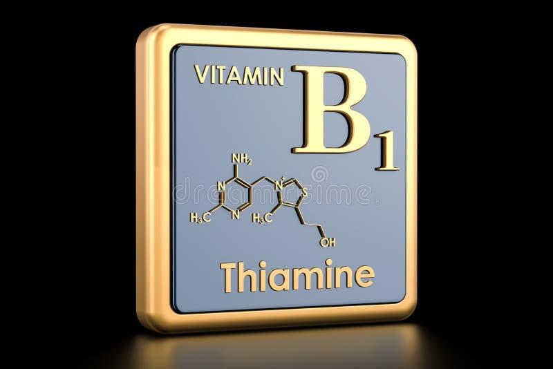 Витамин B1, тиамин 3d иллюстрация штока