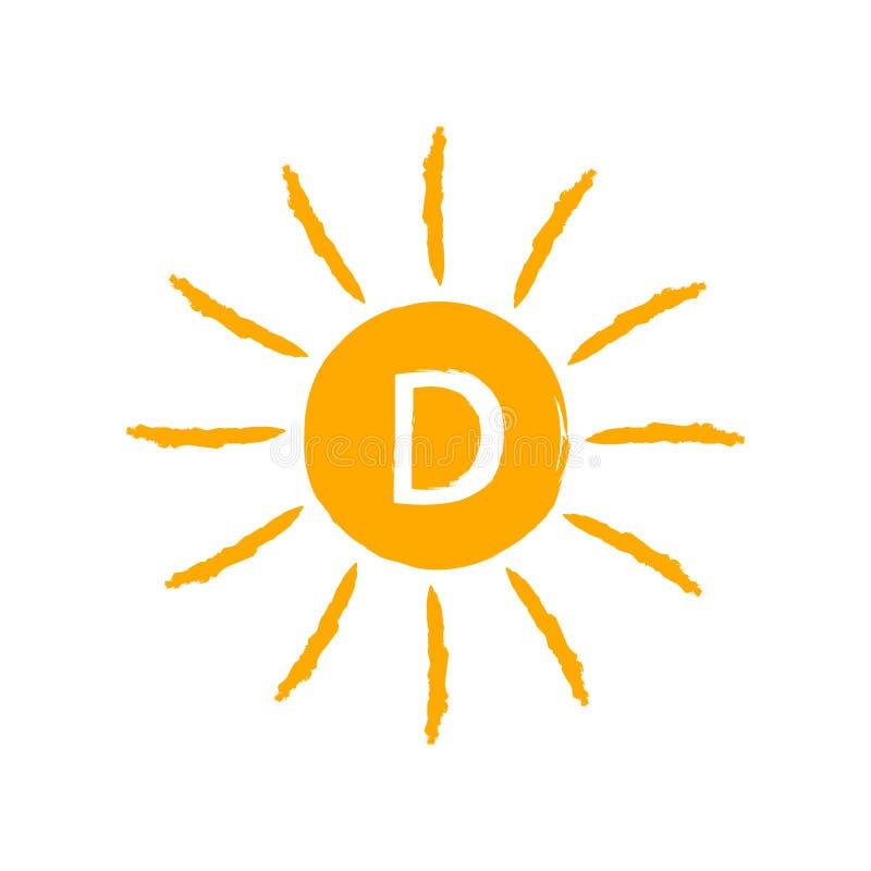 Витамин D значка Солнця бесплатная иллюстрация