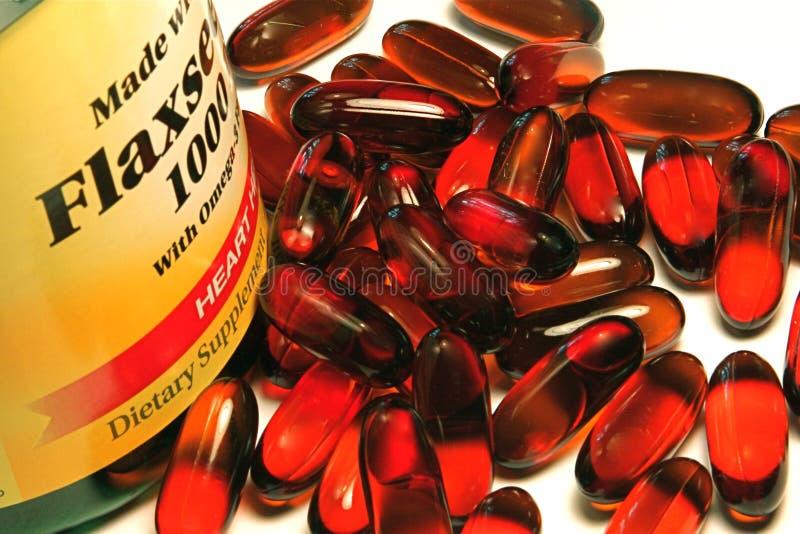 витамин flaxseed стоковая фотография rf
