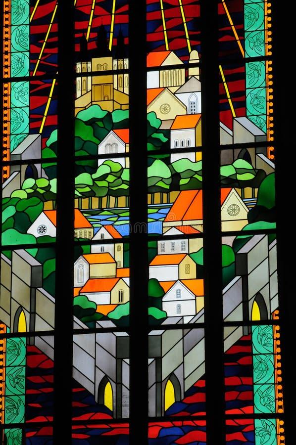 витраж собора Visby стоковое изображение