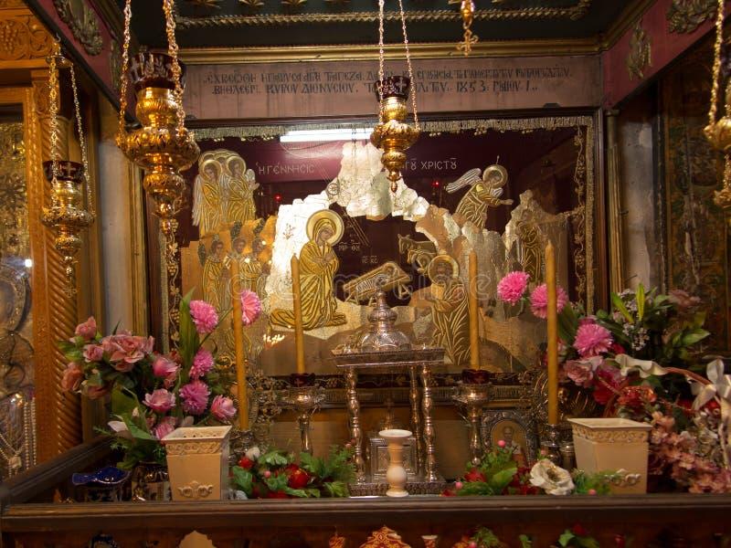 ВИФЛЕЕМ, PA, Израиль, 12-ое июля 2015: Богато украшенное взаимо- стоковое фото rf