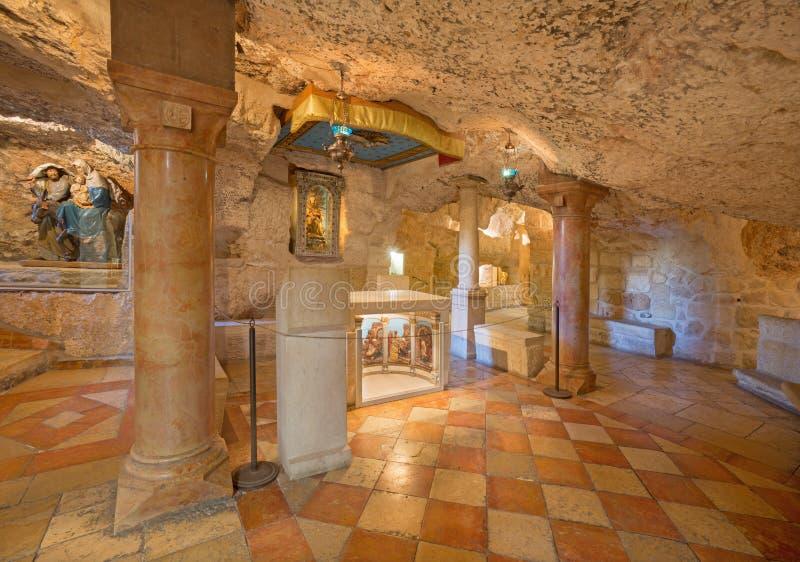 Вифлеем - пещера часовни грота молока стоковые фото