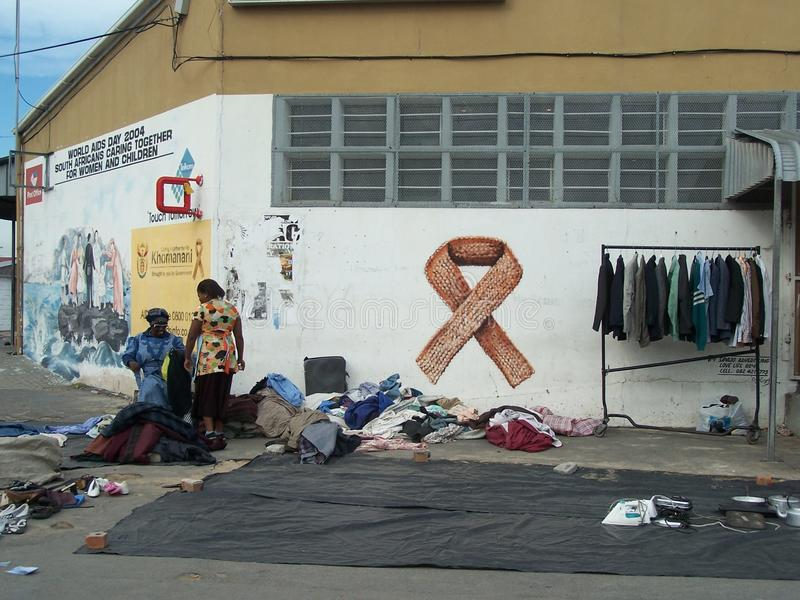 ВИЧ испытывая и поднимая деньги для осведомленности СПИДА стоковые фото