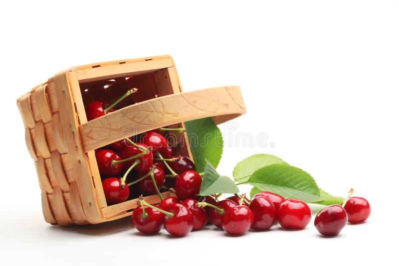 вишни корзины сладостные стоковые фотографии rf