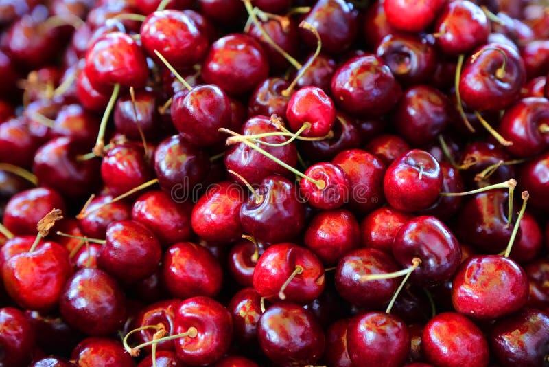 вишни свежие стоковая фотография rf