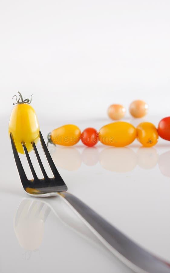 вишня датирует томаты стоковая фотография