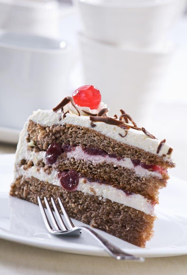вишня торта стоковые изображения rf