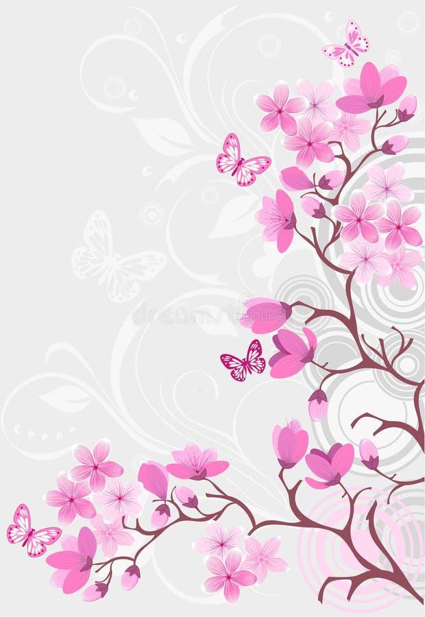вишня цветения предпосылки бесплатная иллюстрация