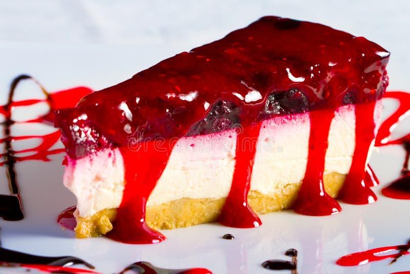 вишня cheesecake стоковые фото